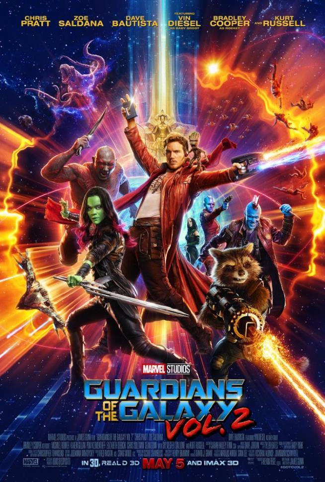 Guardiani della Galassia Vol. 2 poster ufficiale