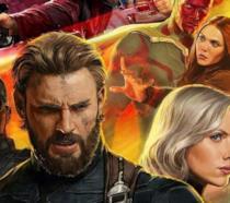 Un dettaglio del poster di Avengers: Infinity War