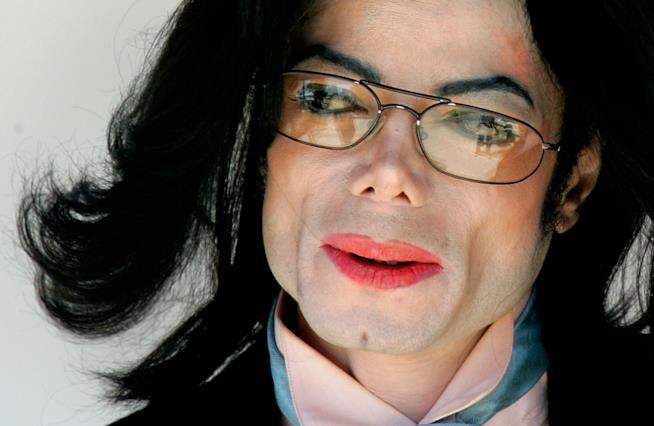 Michael Jackson in primo piano