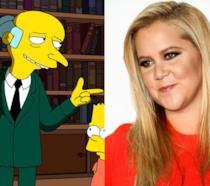 Amy Schumer e Mr Burns dei Simpson