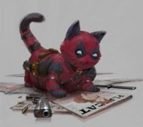 Deadpool è Catpool nel disegno di Setiawan