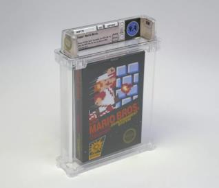 La copia mint condictions di Super Mario Bros. per NES