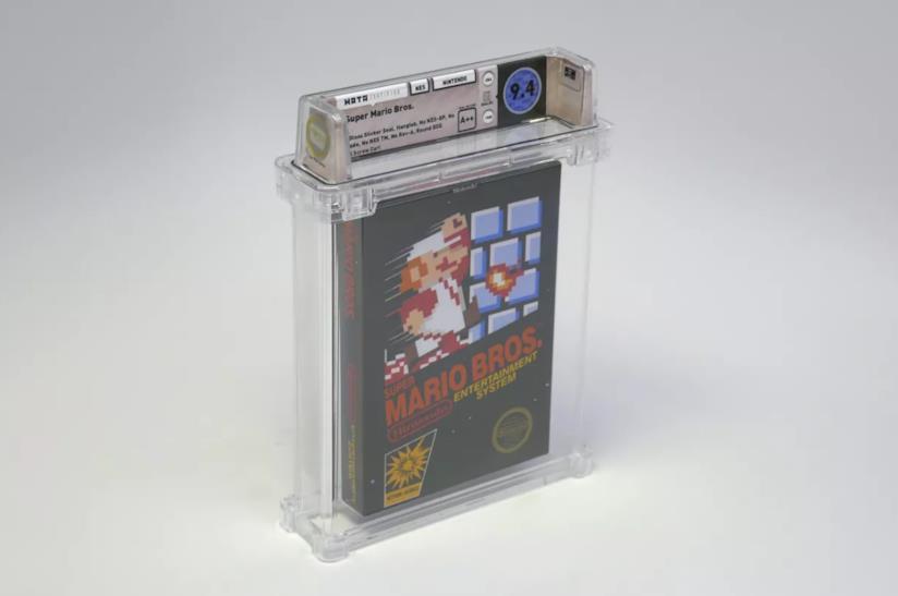 La copia mint condictions di Super Mario Bros. per NES