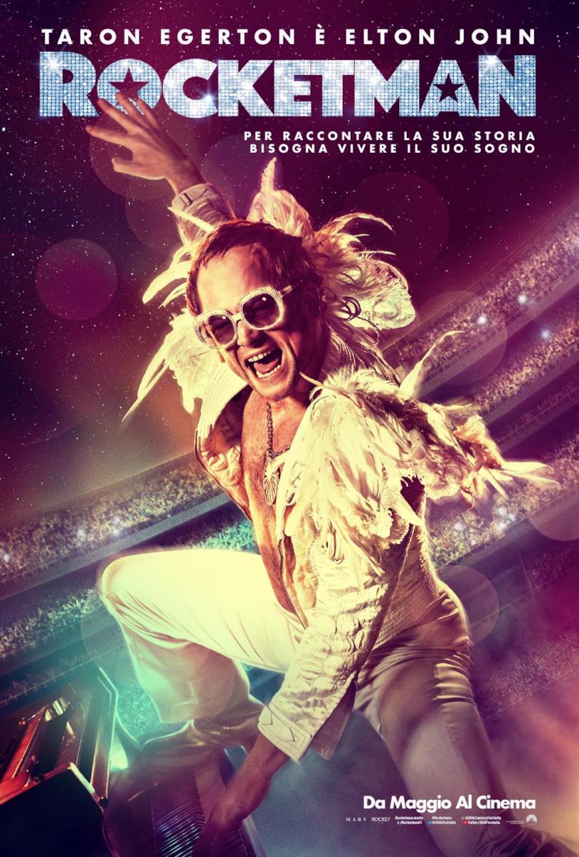 Tanron Egerton è Elton John nella locandina italiana di Rocketman