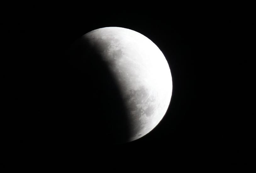 La Luna in parte oscurata
