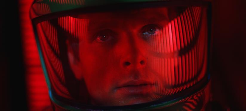Keir Dullea in un fotogramma di 2001: Odissea nello spazio