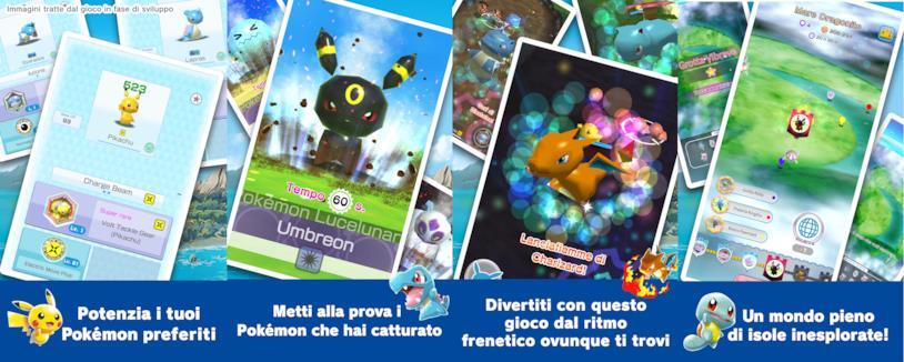 Screen del gioco Pokémon Rumble Rush da Google Play Store