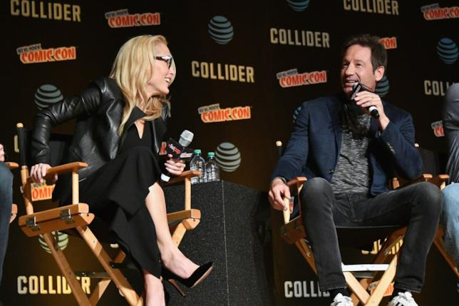Gillian Anderson insieme a David Duchovny al New York Comic Con