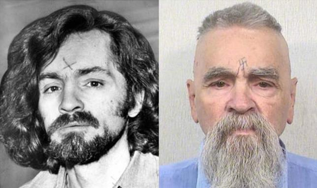 Il criminale Charles Manson negli anni '60 e oggi