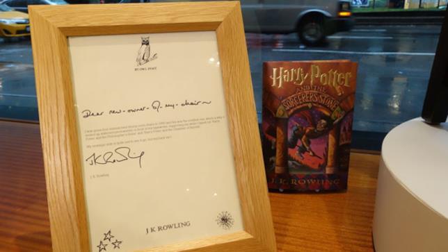 Lettera autografa di J.K.Rowling
