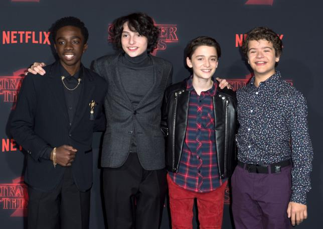 Lucas, Mike, Will e Dustin, i protagonisti di Stranger Things