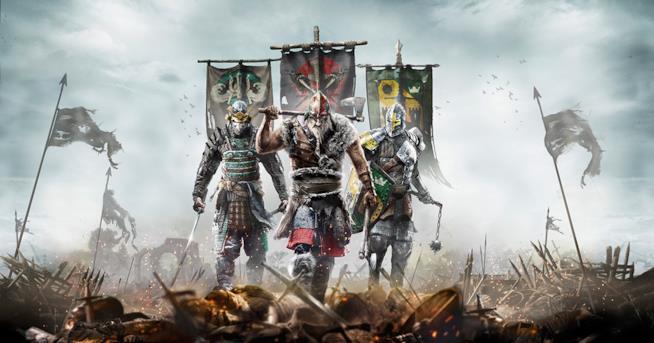 Le tre classi di For Honor sulla cover del videogame