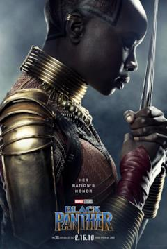 Danai Gurira è Okoye nel character poster del film Black Panther
