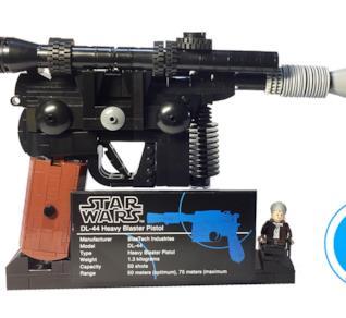 Il Blaster di Han Solo ma di LEGO: perfetto!