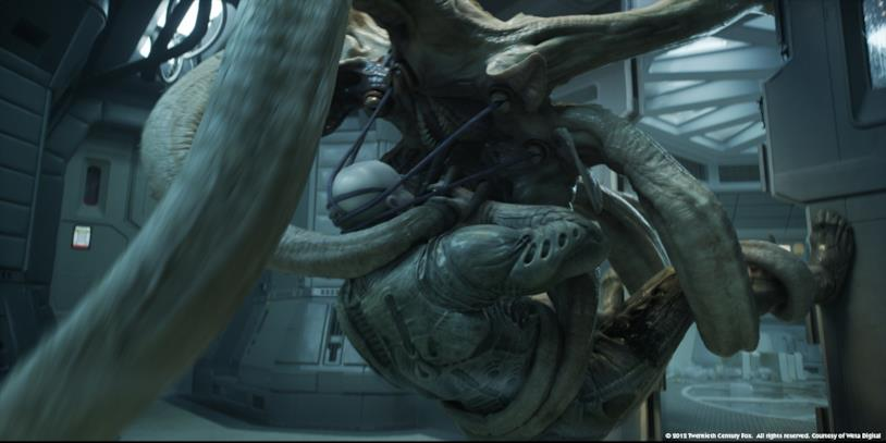 Il mostro di Prometheus che compare alla fine del film