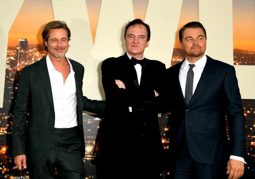 Brad Pitt, Quentin Tarantino e Leonardo DiCaprio in posa per i fotografi