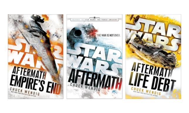 Copertine della trilogia di Aftermath