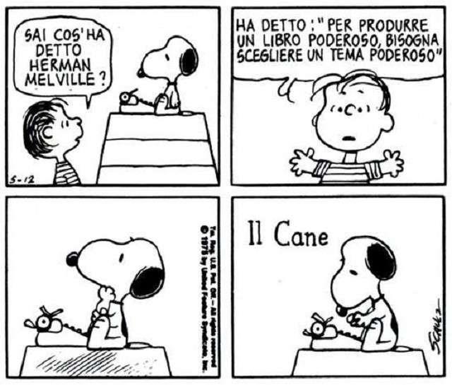 Una vignetta dei Peanuts