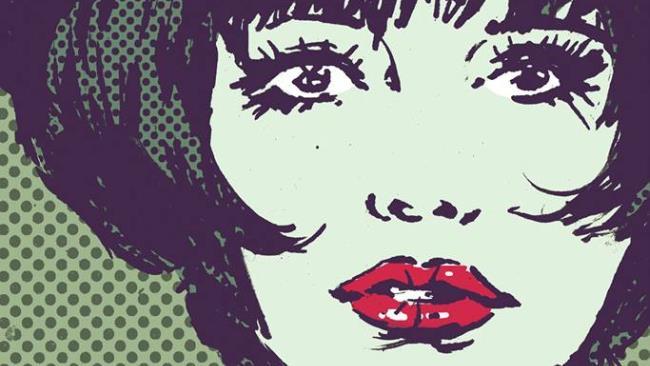 Lo sguardo di Valentina presente sulla copertina del volume