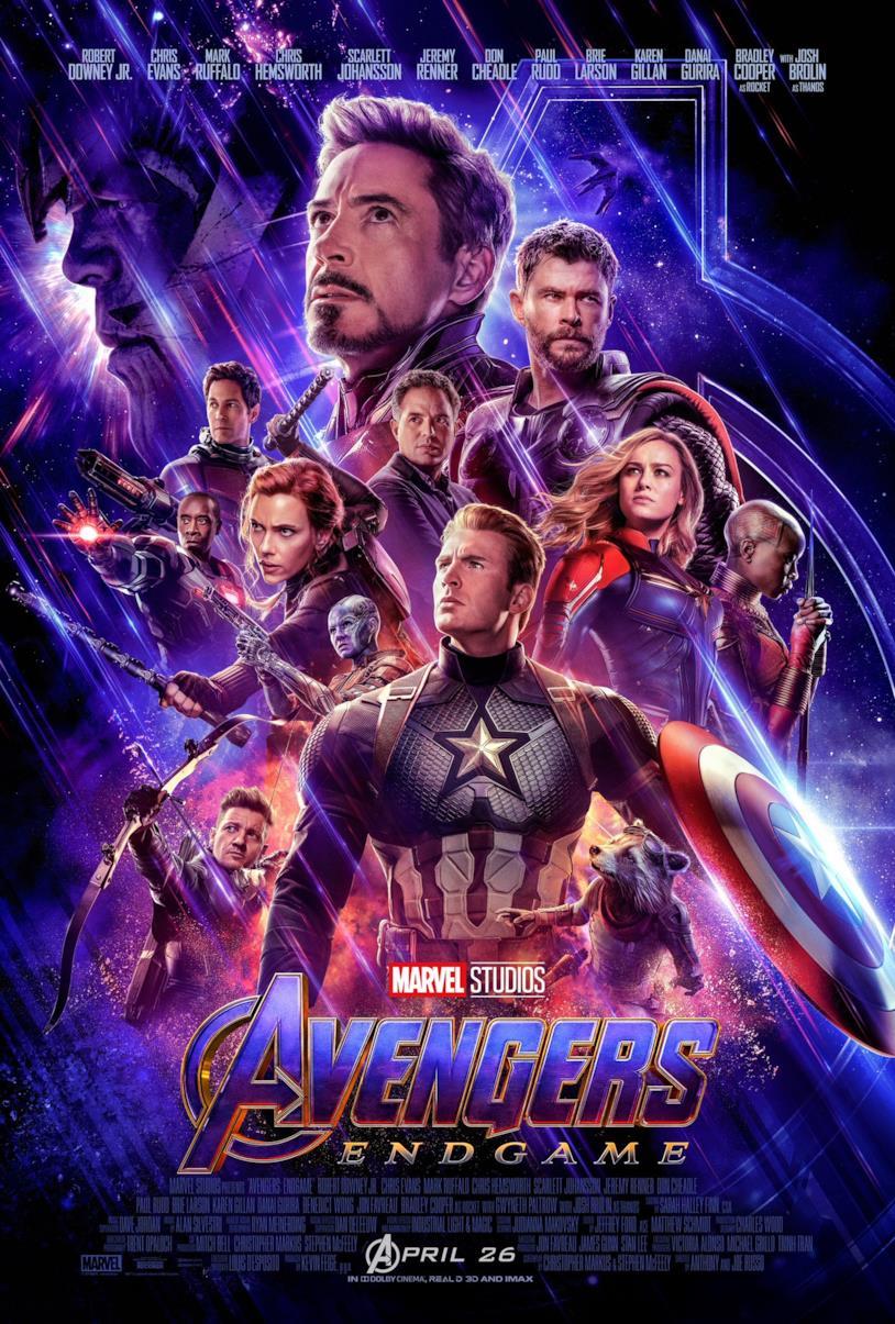 I Vendicatori riuniti per combattere Thanos nella locandina di Endgame