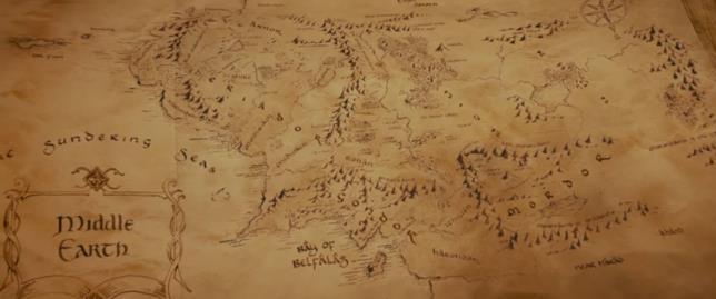 Una Mappa della Terra di Mezzo disegnata da Christopher Tolkien