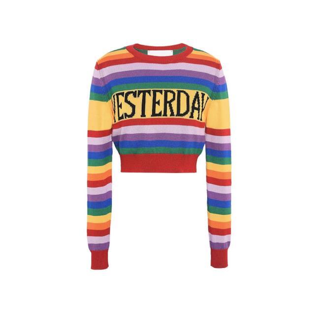 Il maglione Alberta Ferretti indossato da Ambra