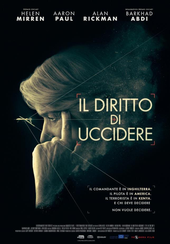 Helen Mirren nel poster di Il Diritto di Uccidere