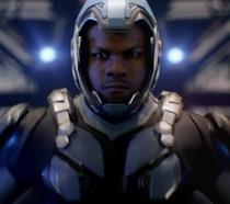 John Boyega in una scena di Pacific Rim 2 - Go Jaeger