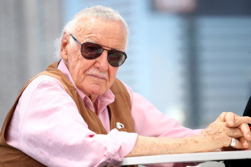 Stan Lee in un primo piano