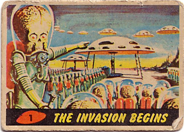 Uno degli alieni di Mars Attacks! nella sua versione cartacea