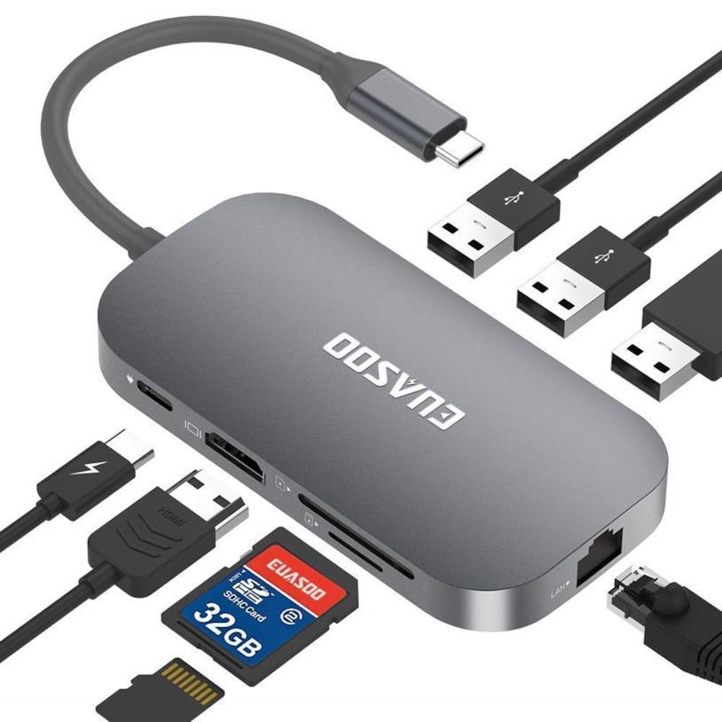 EUASOO Hub USB C con 9 Porte