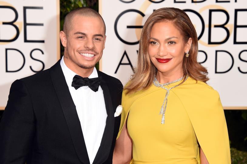 Primo piano di Jennifer Lopez e Casper Smart