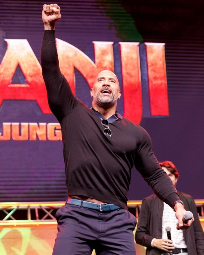 The Rock alla presentazione di Jumanji: Benvenuti nella Giungla