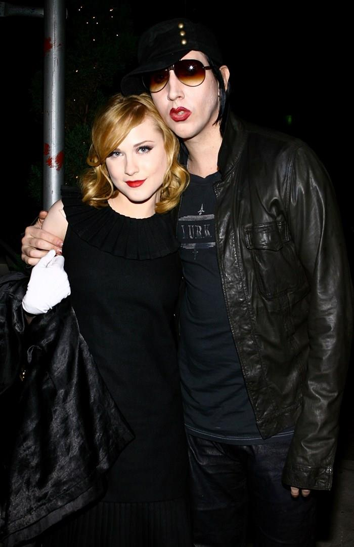 Marilyn Manson ed Evan Rachel Wood ai tempi della loro relazione