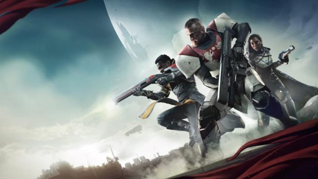 Tre Guardiani sulla copertina di Destiny 2