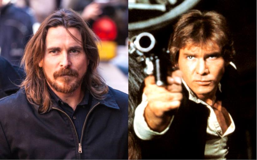 Christian Balee Harrison Ford in versione Han Solo