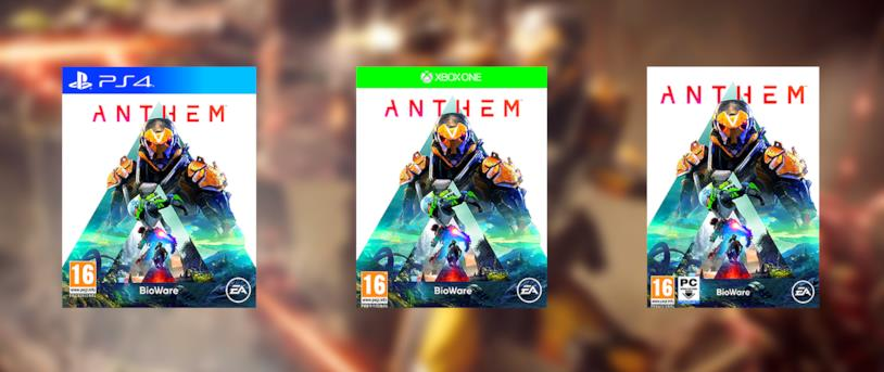 Le copertine di Anthem per PS4, Xbox One e PC
