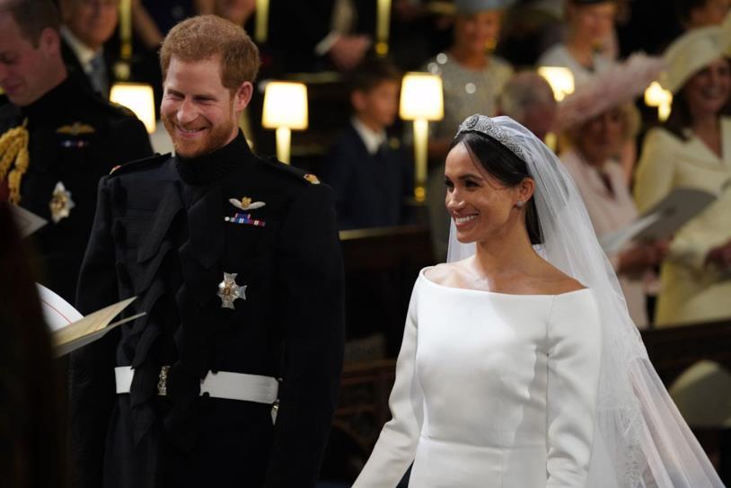 Una foto che immortala la celebrazione del matrimonio tra Harry e Meghan