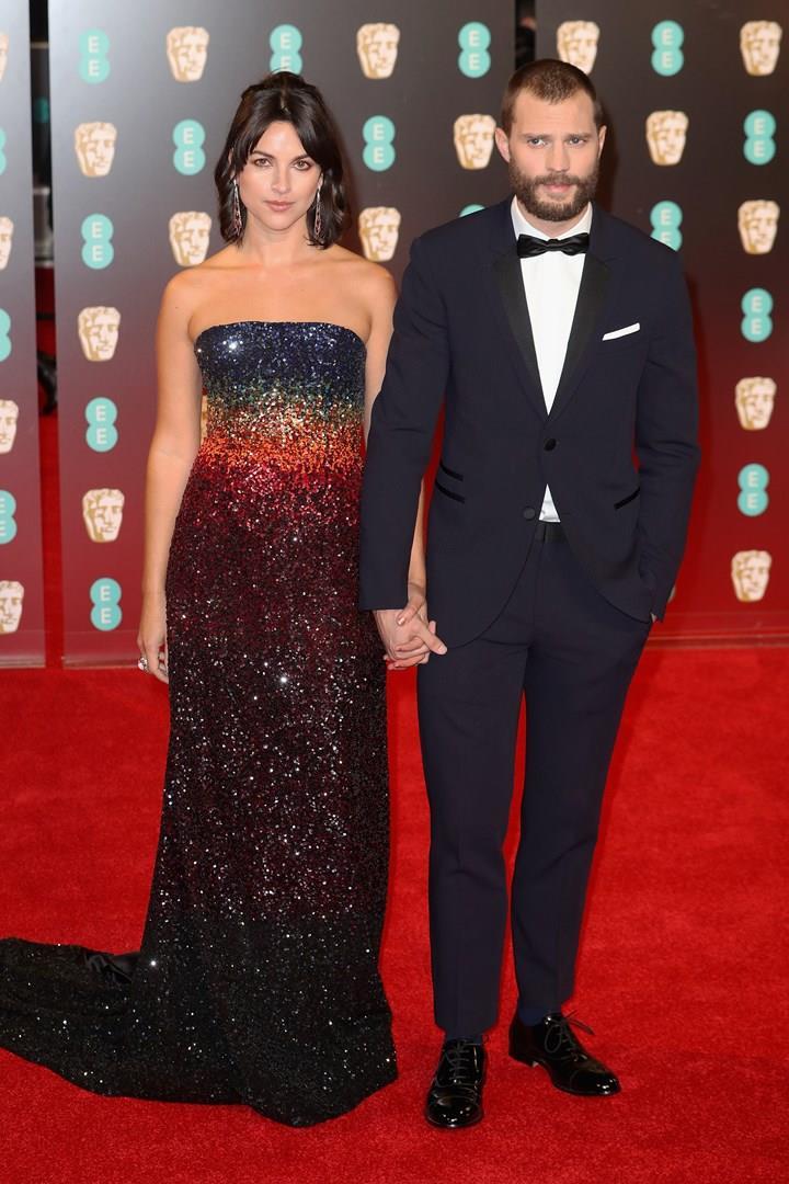 Jamie Dornan e Amelia Warner ai BAFTA 2017