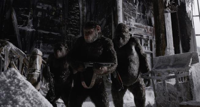 Un'immagine tratta da The War - Il pianeta delle scimmie