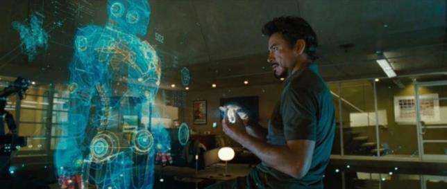 J.A.R.V.I.S. e Iron Man (Robert Downey Jr.)