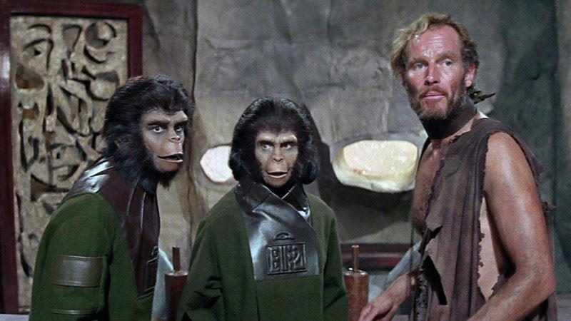 """Una scena tratta dal film """"Il pianeta delle scimmie"""" di Franklin J. Schaffner"""