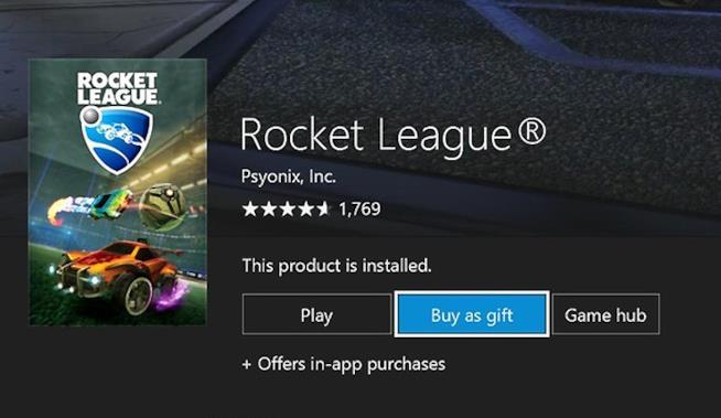 Su Xbox One è possibile regalare contenuti digitali