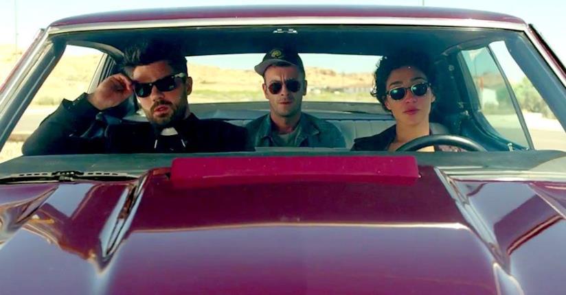 Jesse, Tulip e Cassidy in auto nella serie Preacher