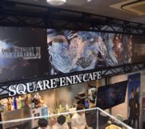 L'insegna di Square Enix Cafe a Tokyo