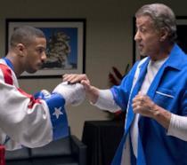 Jordan e Stallone in una scena di Creed II