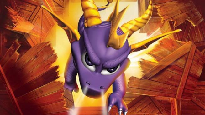 Il faccione viola di Spyro in primo piano