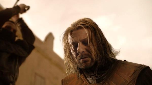 Game of Thrones: un'immagine dalla scena della morte di Ned
