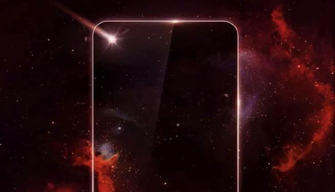 Immagine promozionale di Huawei del suo smartphone senza tacca