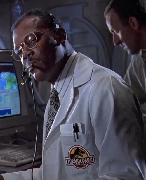 Samuel L. Jackson è Ray Arnold in Jurassic Park